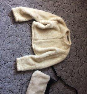 Шубка-куртка + сумка