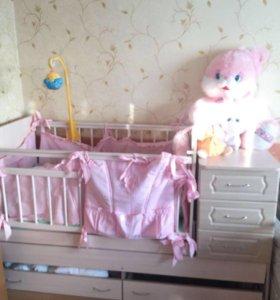 Детская кроватка трасформер