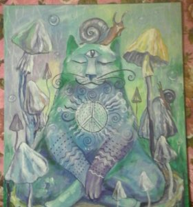 "Картина от автора ""Медитирующий кот"""