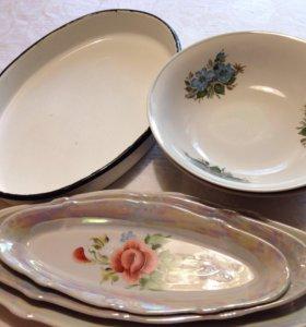 Тарелки, набор селёдочниц