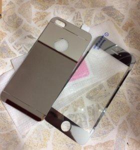 Закаленное стекло на iPhone 5,5s