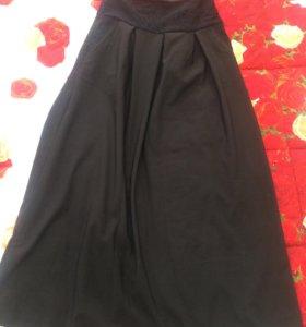 Длинная тёплая юбка