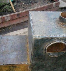 Печь в банью из нового металла 8мм. Торг.