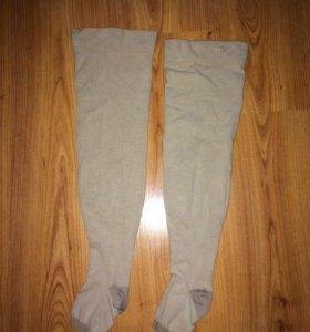 Чулки компрессионные, плотные, открытый носок