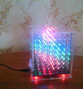 Светодиодный 3D кубик.