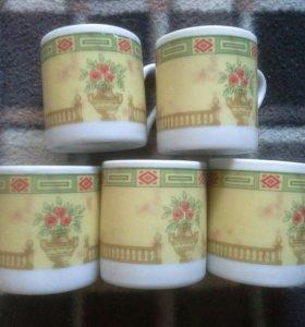 5 кофейных чашек. Англия.