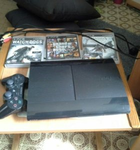 Sony PlayStation 3 Super Slim 500 Gb + 3 игры
