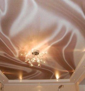 Натяжные потолки имитация шелка