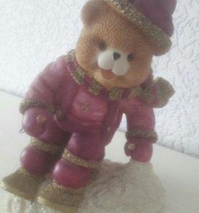 Статуэтка Мишка на лыжах
