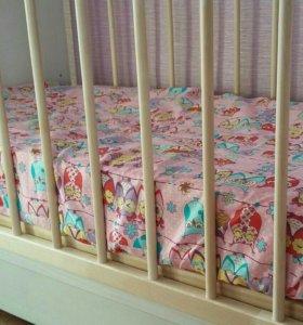 Простыни для детской кроватки