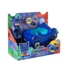 PJ Masks. Игровой набор фигурка и машина Кэтмобил