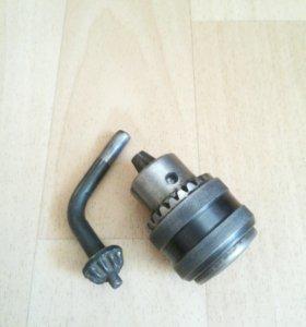 Патрон сверлильный ПС-10 В12 (2-10мм), с ключом