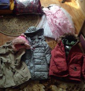 Вещи для девочки 6-8 лет платья и тд пакетом 700р