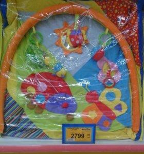 Развивающий коврик +переноска для ребёнка