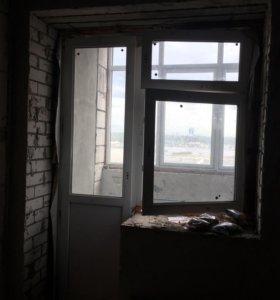 Балконный блок, пластиковое окно
