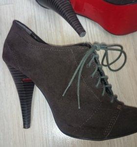 Туфли-ботиночки из натуральной замши 36