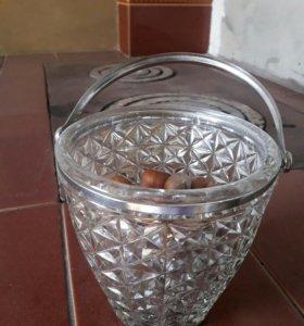 Корзинка ведерко стекло.