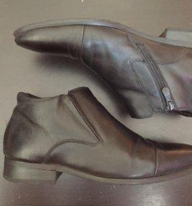 Черные зимние туфли с мехом