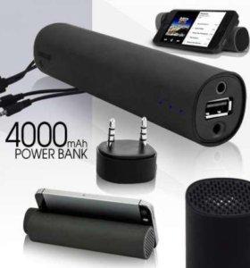 power BANK + колонка