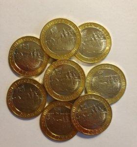 Олонец 10 рублей 2017 года