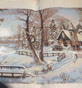 Картина вышитая Зима