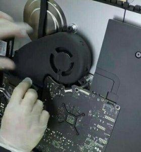 Замена термопасты системы охлаждения iMac