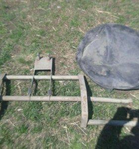 Кронштейн для запасного колеса на ниву с чехлом