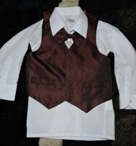 Рубашка+жилетка