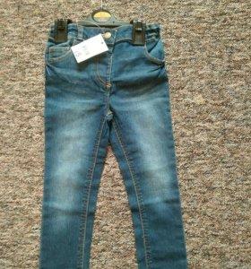 Новые джинсы 2-3года