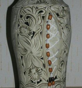 Ваза напольная керамическая. Новая.
