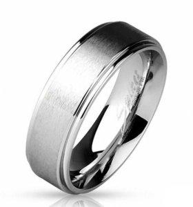 Кольцо из стали с матовой поверхностью Spikes