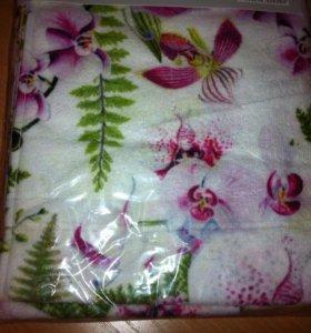 🌸 Полотенце 70*140 Орхидея в подарочной коробке