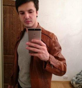 Мужская куртка экокожа