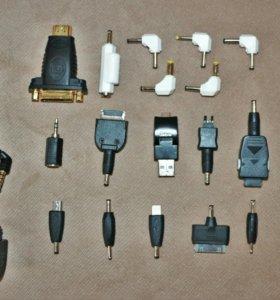 Переходники, штекера аудио-видео, для БП.