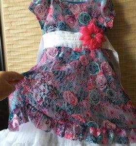 Детское платье и сетка