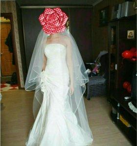 Свадебное платье, русалка, шампань, 42-44