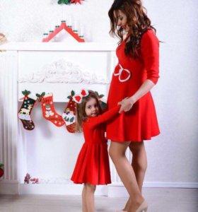 Платье мамы и дочки