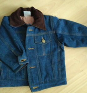 Джинсовая куртка утепленная 74