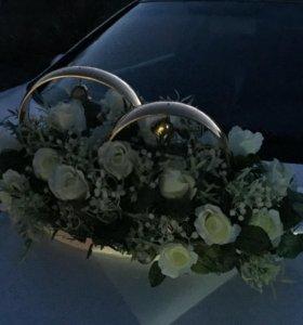 Свадебные кольца на машину. Возможен прокат