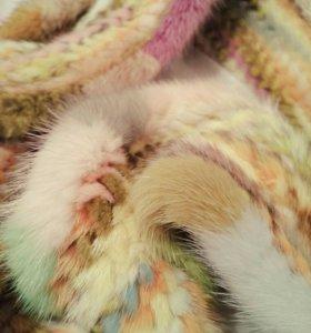 Норковый шарф палантин