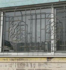 Оконная защитно-декоративная решетка