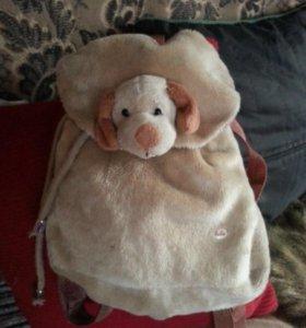 Рюкзачок 🐶 игрушка собачка, бархатный