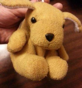 Игрушка масенькая собачка рюкзачок 12 см