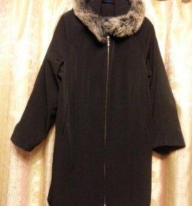 Куртка пальто с капюшоном черная Montaza р. 54