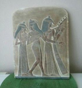 Фрески на плите из Египта