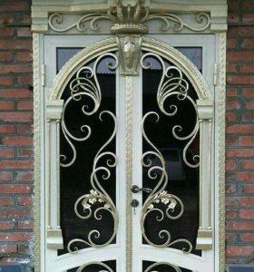 Двери, козырки.
