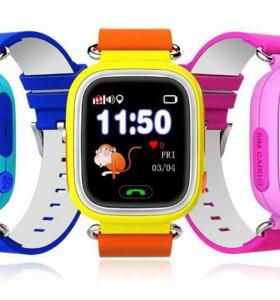 Умные детские GPS часы Q80 - сенсорные с WiFi