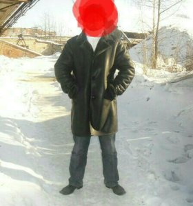 Пальто натуральная кожа с мехом