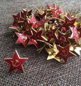 Значок Кокарда Красная звезда, серп и мол