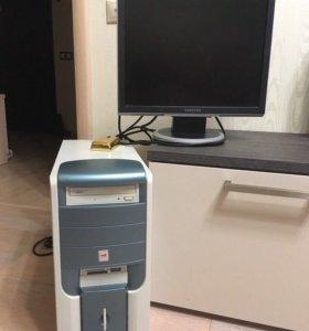 ПК системный блок и монитор